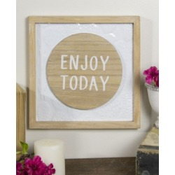 """Vip Home International Metal and Wood """"Enjoy Today"""" Sign"""