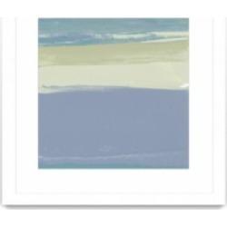 "Giant Art Blue Coast I Matted and Framed Art Print, 36"" x 36"""