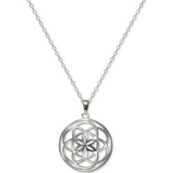 "Giani Bernini Celtic Flower 18"" Pendant Necklace in Sterling Silver, Created For Macy's"