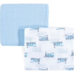 Luvable Friends Muslin Swaddle Blankets, 2-Pack