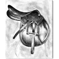 """Oliver Gal Jumping Saddle Canvas Art, 30"""" x 36"""""""