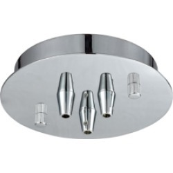 Pendant Options 3 Light Small Round Canopy in Polished Chrome