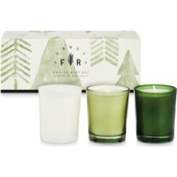 Illume Holiday Frost & Fur 3-Pack Votive Gift Set