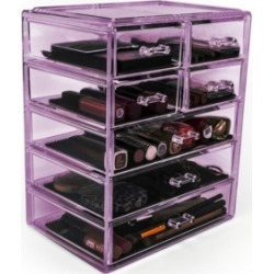 Sorbus Cosmetic Makeup and Jewelry Storage Case Display - 3 Large 4 Small Drawers found on Bargain Bro Philippines from Macys CA for $30.54