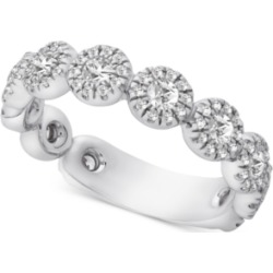 Diamond Halo Band (1 ct. t.w.) in 14k White Gold found on Bargain Bro India from Macy's for $2950.00