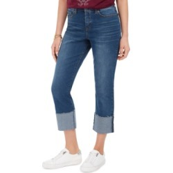 Style & Co High-Rise Crop Straight-Leg Jeans, Created for Macy's found on MODAPINS from Macy's for USD $49.00