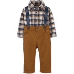 Carter's Baby Boys 3-Pc. Plaid Flannel Bodysuit, Pants & Suspenders Set found on Bargain Bro Philippines from Macys CA for $48.45