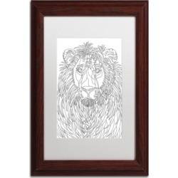 Kathy G. Ahrens Lion Matted Framed Art - 16