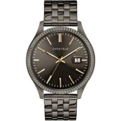 Caravelle Designed by Bulova Men's Gunmetal Stainless Steel Bracelet Watch 41mm found on Bargain Bro India from Macy's Australia for $106.49