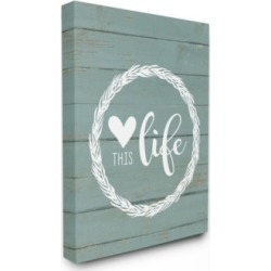 "Stupell Industries Love This Life Wreath Planked Canvas Wall Art, 30"" x 40"""