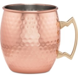 Thirstystone by Cambridge Hammered Copper Moscow Mule Mug with Classic Handle