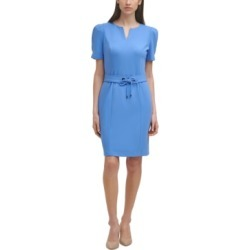 Karl Lagerfeld Paris Belted Sheath Dress found on MODAPINS from Macy's for USD $128.00