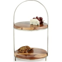 Lucky Brand Wood 2-Tier Server