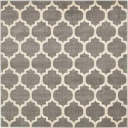 Bridgeport Home Arbor Arb1 Dark Gray 6' x 6' Square Area Rug found on Bargain Bro India from Macy's for $194.00