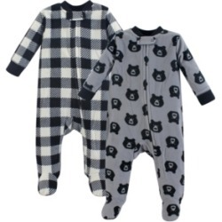Baby Vision 0-9 Months Unisex Yoga Sprout Baby Fleece Union Suit/Coveralls and Sleep and Play, Sleep and Play 2-Pack