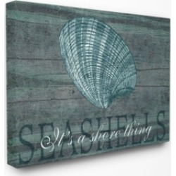 "Stupell Industries Home Decor It's a Shore Thing Seashell Canvas Wall Art, 30"" x 40"""