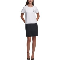 Karl Lagerfeld Colorblocked Shirtdress found on MODAPINS from Macy's for USD $79.50