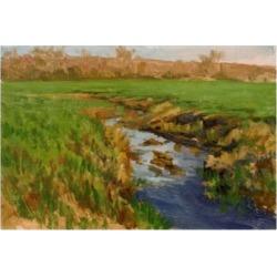"""Michael Budden Spring Fields River Canvas Art - 37"""" x 49"""""""