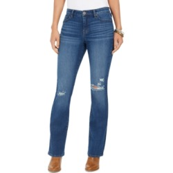 Style & Co Destructed Curvy Boot-Cut Jeans, Created For Macy's