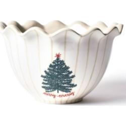 "Coton Colors Merry Tree 9"" Ruffle Bowl"