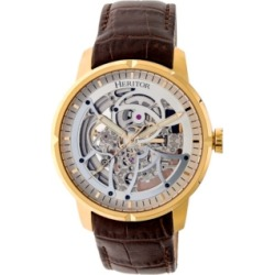 Heritor Automatic Ryder Brown & Gold & Silver Leather Watches 44mm found on Bargain Bro from Macys CA for USD $324.86