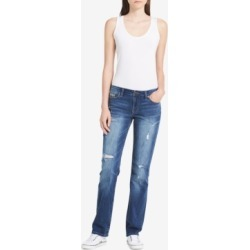 Calvin Klein Jeans Halsey Ripped Straight-Leg Jeans found on MODAPINS from Macy's for USD $35.73