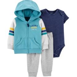 Carter's Baby Boy 3-Piece Striped Little Jacket Set