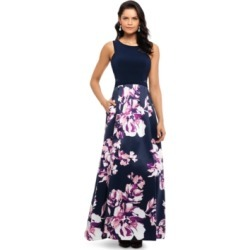 Xscape Floral-Skirt Gown