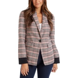 Ella Moss Colorblocked Plaid Blazer found on MODAPINS from Macys CA for USD $47.11