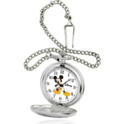 Disney Mickey Mouse Men's Silver Alloy Pocket Watch found on Bargain Bro India from Macy's for $39.99