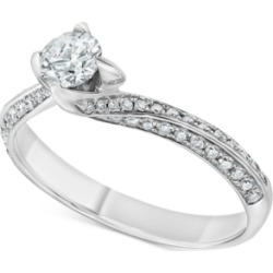 Diamond Swirl Solitaire Engagement Ring (5/8 ct. t.w.) in 14k White Gold found on Bargain Bro Philippines from Macy's for $1721.70