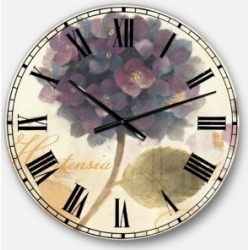 Designart Floral Cottage Oversized Metal Wall Clock found on Bargain Bro Philippines from Macy's Australia for $212.05