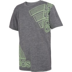 adidas Big Boys Short Sleeve Aeroready Melange Badge of Sport Tee found on MODAPINS from Macy's for USD $18.00
