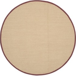 Safavieh Natural Fiber Maize and Burgundy 6' x 6' Sisal Weave Round Rug found on Bargain Bro Philippines from Macy's for $172.80