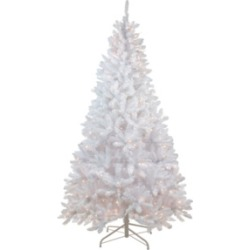 Northlight 6' Pre-Lit Flocked Snow White Artificial Christmas Tree - Clear Lights