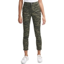 Calvin Klein Jeans Camo-Print Cropped Skinny Pants found on MODAPINS from Macy's for USD $39.99