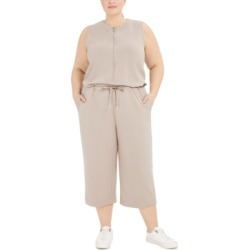 Calvin Klein Plus Size Half-Zip French Terry Jumpsuit found on Bargain Bro India from Macy's for $79.50