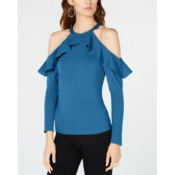 I.n.c. Ruffle-Detail Cold Shoulder Top, Created for Macy's found on MODAPINS from Macys CA for USD $18.77