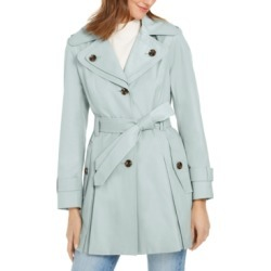 London Fog Hooded Belted Water-Resistant Trench Coat found on MODAPINS from Macys CA for USD $79.45