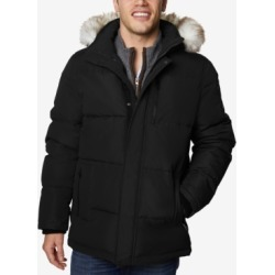Halifax Men's Long Hooded Coat with Faux-Fur Trim found on MODAPINS from Macy's for USD $82.99