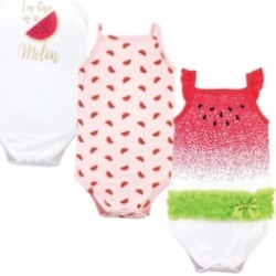 Little Treasure Baby Girls Watermelon Bodysuits, Pack of 3 found on Bargain Bro India from Macy's for $13.99