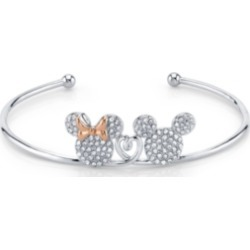 Mickey And Minnie Mouse Crystal Cuff In Rose Gold Two-Tone Plated Silver for Unwritten found on Bargain Bro India from Macy's for $27.50