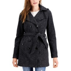 Bcx Juniors' Solid Double-Breasted Belted Fleece Coat found on Bargain Bro from Macys CA for USD $21.58