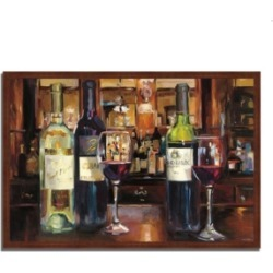 Tangletown Fine Art A Reflection of Wine by Marilyn Hageman Framed Painting Print, 38