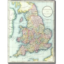 R.h. Laurie 'Map of England & Wales 1852' Canvas Art - 14