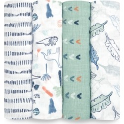 aden by aden + anais Baby Boys & Girls 4-Pack Printed Cotton Muslin Swaddles