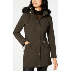 Guess Faux-Fur-Trim Lace-Up Raincoat found on MODAPINS from Macy's for USD $71.93