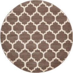 Bridgeport Home Arbor Arb1 Light Brown 6' x 6' Round Area Rug found on Bargain Bro India from Macy's for $194.00