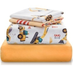 Chital Construction Tractor Print Double-Brushed Microfiber 4 Piece Twin Sheet Set Bedding found on Bargain Bro Philippines from Macy's for $87.99
