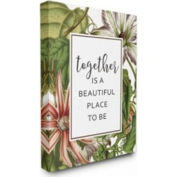 """Stupell Industries Together Is Beautiful Flowers Canvas Wall Art, 24"""" x 30"""""""